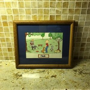 VINTAGE MADE IN CANADA FRAMED PRINT FOR DAD FATHER